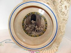 Antique Baby Plate with Puppies by Harker by VintageLoversShop, $42.00