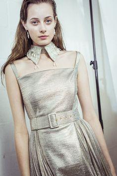 Emilia Wickstead peach eye, luminous vitamin D serum skin Races Fashion, Emilia Wickstead, Skin Serum, Diy Keychain, Backstage, Peach, High Neck Dress, Eye, Dresses