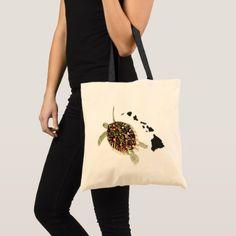Hawaii turtles tote bag - cyo diy customize unique design gift idea perfect