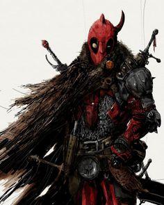 Medieval Deadpool by M.J. Hiblen