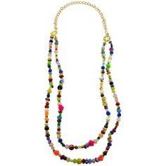 Collar largo doble diferentes piedras y multi color Beaded Necklace, Color, Jewelry, Fashion, Long Necklaces, Feminine Fashion, Bead Necklaces, Fashion Necklace, Beaded Collar
