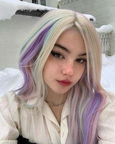 Hair Inspo, Hair Inspiration, Platinum Hair, Hair Reference, Hair Dye Colors, Dye My Hair, Hair Strand, Pastel Hair, Aesthetic Hair