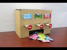 How to Make MULTI Chewing Gum Vending Machine at Home DIY - YouTube