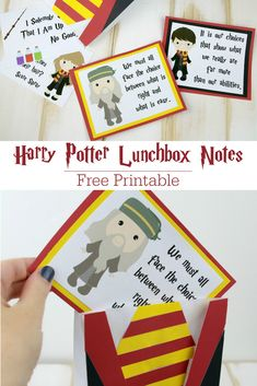 Free Printable Harry Potter Lunchbox Notes Life Family Joy - We Are Going Back To Hogwarts With These Free Printable Harry Potter Lunchbox Notes To Continue Our Countdown To Fantastic Beasts The Crimes Of Grindelwald We Are Watching Harry Potter And The C Harry Potter Free, Harry Potter Bday, Lunchbox Notes For Kids, Lunch Box Notes, Chocolate Frog, Jokes For Kids, Creative Play, Free Printables, Crafts For Kids