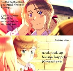 hetalia france and lisa - CRYING<< I JUST REALIZED SHE'S A REINCARNATION OF JOANN OF ARC!!!!