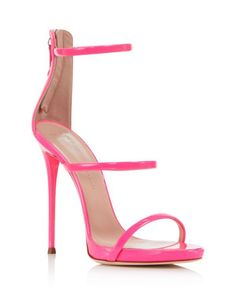 5e41cafacf2e Giuseppe Zanotti Women s Vernice Patent Leather Ankle Strap High Heel  Sandals Mauve