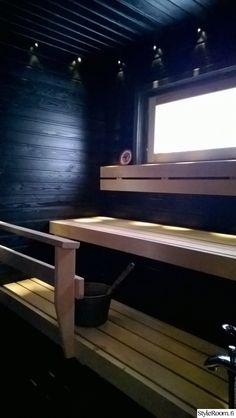 lauteet,sauna,mökkisauna,musta sauna