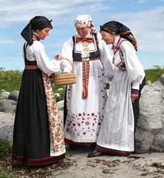 Bunads from Skjeggedal and Åmli, Aust-Agder, Norway Folk Costume, Costumes, Strange Flowers, Going Out Of Business, Norway, Scandinavian, Bohemian, Character Design, German