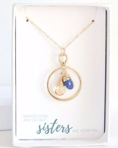 14k Goldfill Sisters Birthstone Necklace. This personalized sisters necklace makes the perfect keepsake necklace. Personalize it with up to 6 birthstones.