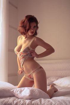 #redhead #lingerie