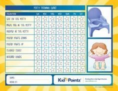 Potty training a toddler can be difficult, but this free potty training chart makes it easy to help your child go through the steps and learn fast. Best Potty Seat, Toddler Potty Training, Preschool Schedule, Toilet Training, Toddler Fun, Kids Education, Activities For Kids, Toddlers, Behavior Charts