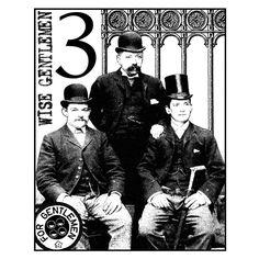 Crafty Individuals CI-077 - 'Three Wise Gentlemen' Art Rubber Stamp, 70mm x 85mm - Crafty Individuals from Crafty Individuals UK