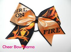 Girl on Fire Cheer Bow by Cheer Bow Mama