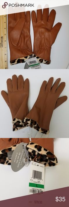 Charter Club Faux Fur Lined Leather Gloves Charter Club Faux Fur Lined Leather Gloves Saddle Size L Charter Club Accessories Gloves & Mittens