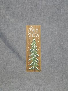 Let It Snow, Hand Painted Christmas Decorations, Wintergreen, Winter Reclaimed Wood Pallet Art, Pine Christmas Swags, Shabby Chic Christmas, Christmas Art, Christmas Decorations, Christmas Ideas, Wood Pallet Art, Wood Pallets, Pallet Boards, Let It Snow