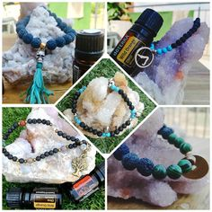 My latest obsession - aromatherapy diffuser bracelets (and DŌTERRA, of course) 🕉️☮️💛✳️ Compatible with any brand of essential oil, but… Aromatherapy Diffuser, Aromatherapy Jewelry, Crystals And Gemstones, Gemstone Beads, Bottle Charms, Doterra, Crystal Jewelry, Essential Oils, Lava