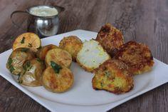 Pečený karfiol na indický spôsob a pečené zemiaky Baked Cauliflower, Tofu, Baked Potato, Free Food, Zucchini, Vegetarian Recipes, Meals, Chicken, Vegetables