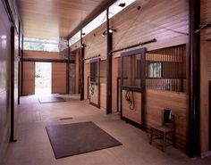 Contemporary stable interior