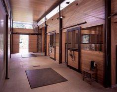Contemporary stable interior