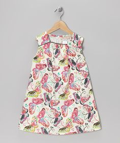 Look at this Pink Butterfly Swing Dress - Girls on #zulily today!