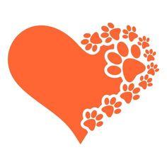 Dog Heart Paws Cuttable Designs