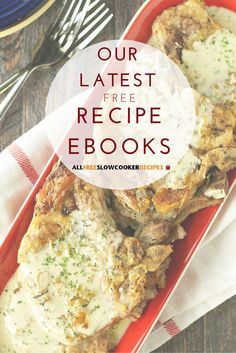 Looking for the best slow cooker recipes? Check out our free eBooks! They're full of easy slow cooker recipes, like pork chop recipes, slow cooker soup recipes, recipes with cake mix, and more!
