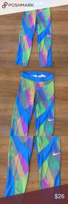 Nike pro leggings size m Nike leggings in good preowned condition size m nike pro Pants