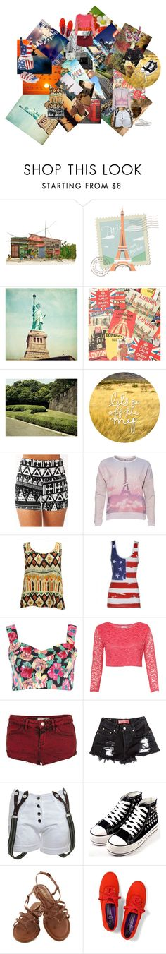 """""""Travel!"""" by glee2shake ❤ liked on Polyvore featuring Saint Louis, National Geographic Home, Cavallini, Vero Moda, Rare London, Topshop, Keds, Superga, Converse and country"""
