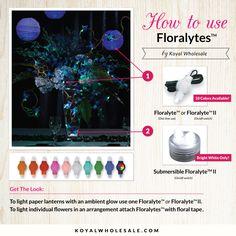 DIY Tutorial: How to use Floralytes! #DIY #wedding #weddinglights #floralytes