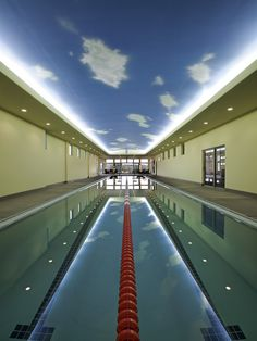 Indoor Pool | Indoor Sky | Lap Pool | Olympic Size | Home Design | Long Room