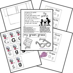 Free Alphabet Notebook Lapbook Letter G