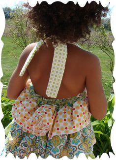 Ruffle halter dress pattern