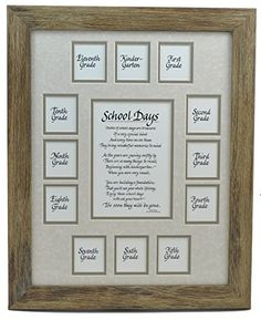 """School Days Years Photo Picture Mat and Frame K-12 - American Made Solid Wood Frame â€"""" 11x14 Barnwood Frame, Taupe Double Mat with Apple Verse All Things For Mom http://www.amazon.com/dp/B00R09B0DU/ref=cm_sw_r_pi_dp_wZslvb005FD2M"""