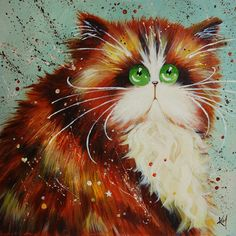 New Cartoon Cat Diamond Painting Cross Stitch Full Diamond Embroidery Europe Home Decoration Sqaure Drill Animal Series Image Chat, Dog Illustration, Cat Illustrations, Cross Paintings, Cat Drawing, Cats And Kittens, Ragdoll Kittens, Funny Kittens, Bengal Cats