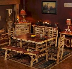 Superior Aromatic Cedar Dining Table Set Idea