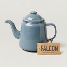 Trouva: Falcon Enamelware Classic Two Mug Pigeon Grey Enamel Teapot