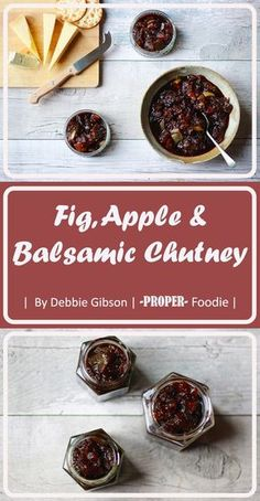 fig apple & balsamic chutney // of ui ipv vijg Fig Chutney Recipe, Apple Chutney, Chutney Recipes, Cranberry Chutney, Fig Recipes, Cooking Recipes, Curry Recipes, Christmas Chutney, Date Chutney