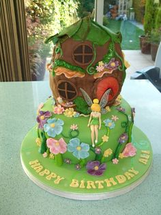 tinkerbell house cake - Google Search