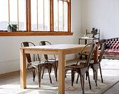 In Stock - Parsons Dining Table - Solid White Oak