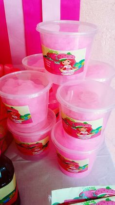 Strawberry Shortcake Birthday Party Favors! See more party ideas at CatchMyParty.com!