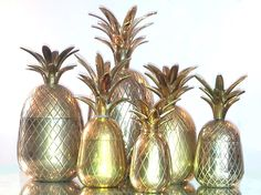 Our latest collection of Brass Pineapple containers from the 1970s. £850.00