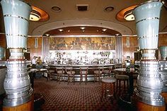 Once the original First Class Lounge of the Queen Mary, the chic Art Deco Observation Bar has great views