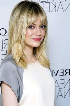 Image result for medium length haircut with bangs