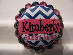 Student Nurse ID Badge Holder Retractable Reel Nursing Student Swarovski Elements by sparklinghope on Etsy https://www.etsy.com/listing/237418133/student-nurse-id-badge-holder