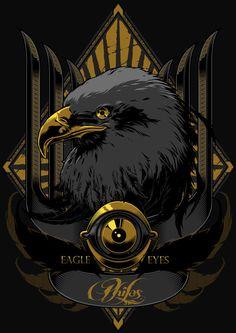 Eagle Eyes by Charles AP, via Behance