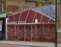 Hackney House, 'pop-up' continues to gain pace with this creative use of a disused carpark. A dramatic entrance creates interest on the High Street and leads to a venue (temporary tent) used for Retail, events and hospitality