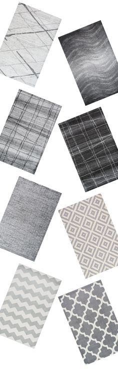 Grey on grey. Super modern and so cool. Visit Rugs USA for stylish options and a wide variety of colors, weaves, and textures!