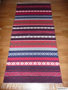 Recycled Fabric, Scandinavian Style, Woven Rug, Hand Embroidery, Pattern Design, Recycling, Weaving, Textiles, Rag Rugs