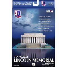 3D Puzzle, Lincoln Memorial, 42 pcs, Multicolor