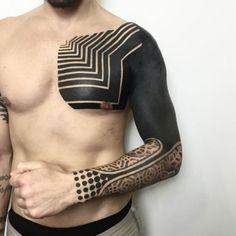 Melow Perez || #tattoos #sacredgeometry #linework